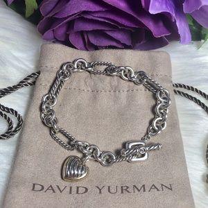 ❤️ David Yurman - Authentic Heart Charm Bracelet